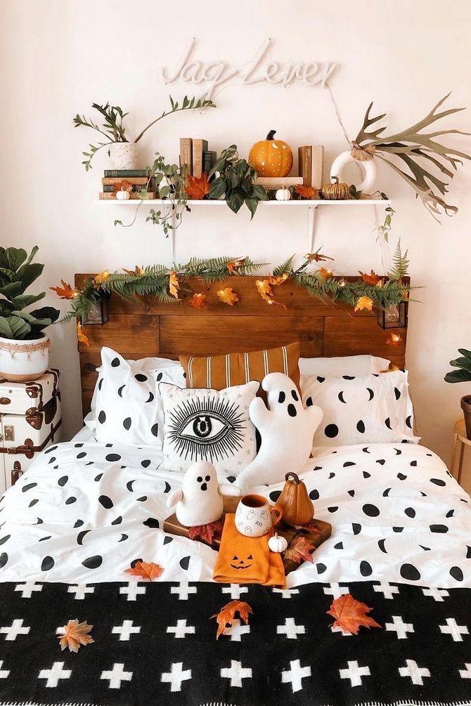Комната страха: украшаем домашний интерьер на Хэллоуин 2020 38