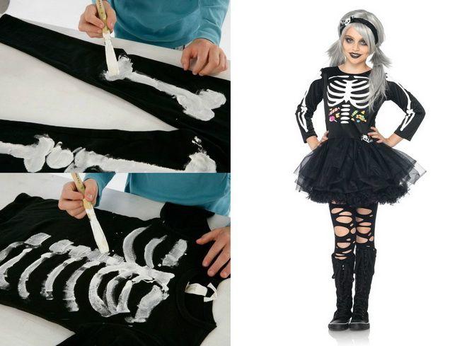 Show the bones: DIY Halloween skeleton costume 11
