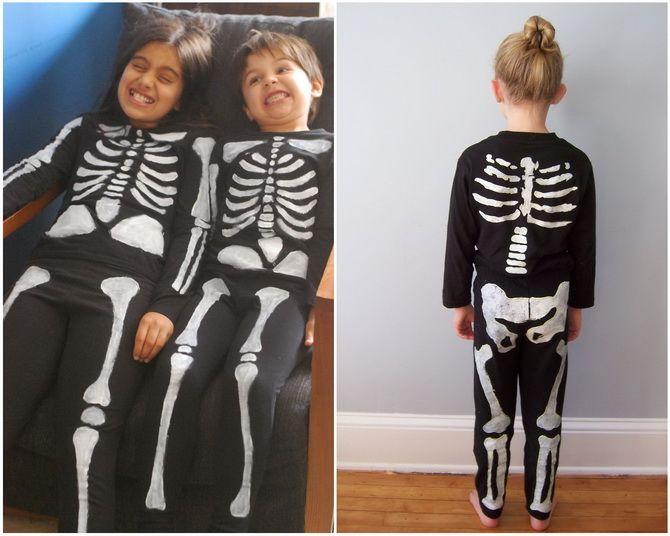 Show the bones: DIY Halloween skeleton costume 13