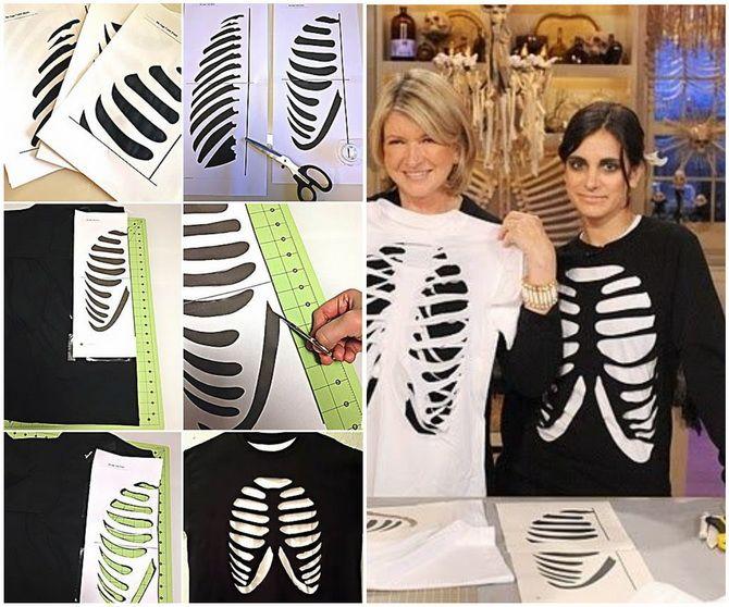 Show the bones: DIY Halloween skeleton costume 15