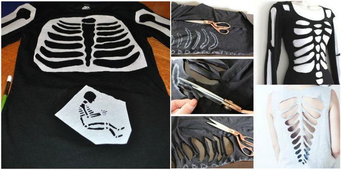 Show the bones: DIY Halloween skeleton costume 16
