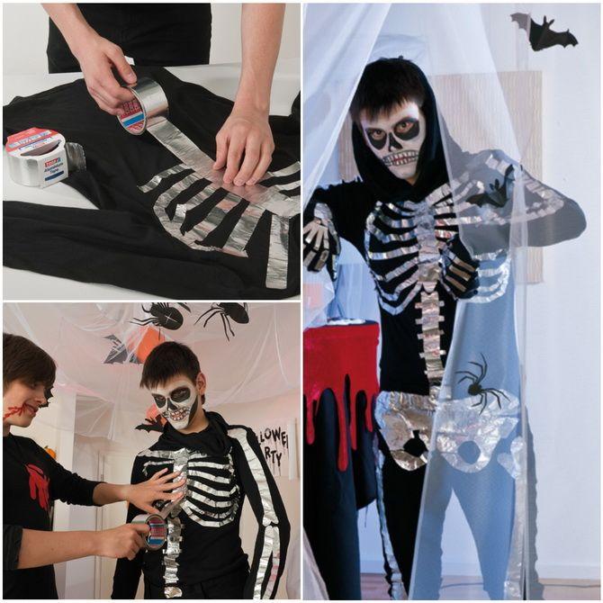 Show the bones: DIY Halloween skeleton costume 17