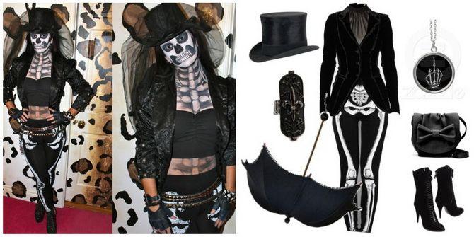 Show the bones: DIY Halloween skeleton costume 20