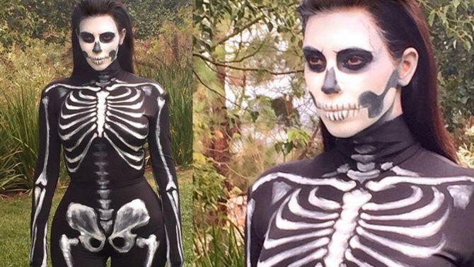 Show the bones: DIY Halloween skeleton costume 2