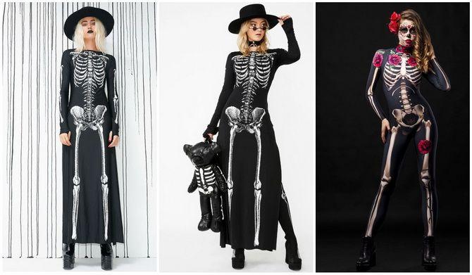 Show the bones: DIY Halloween skeleton costume 19