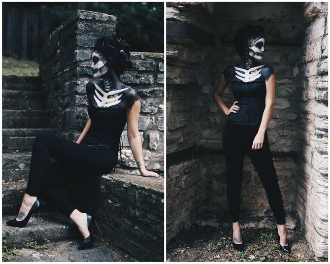 Брязкаємо кістками: костюм скелета на Геловін своїми руками 22