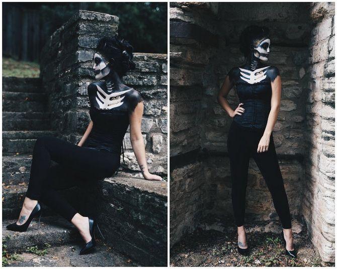 Show the bones: DIY Halloween skeleton costume 22