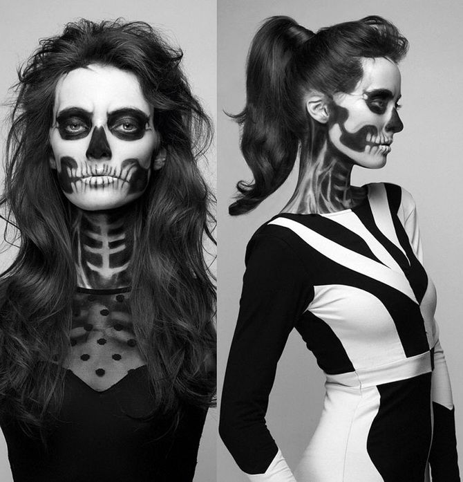 Show the bones: DIY Halloween skeleton costume 28