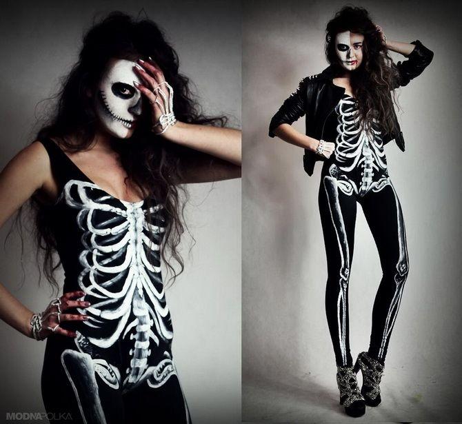 Show the bones: DIY Halloween skeleton costume 3