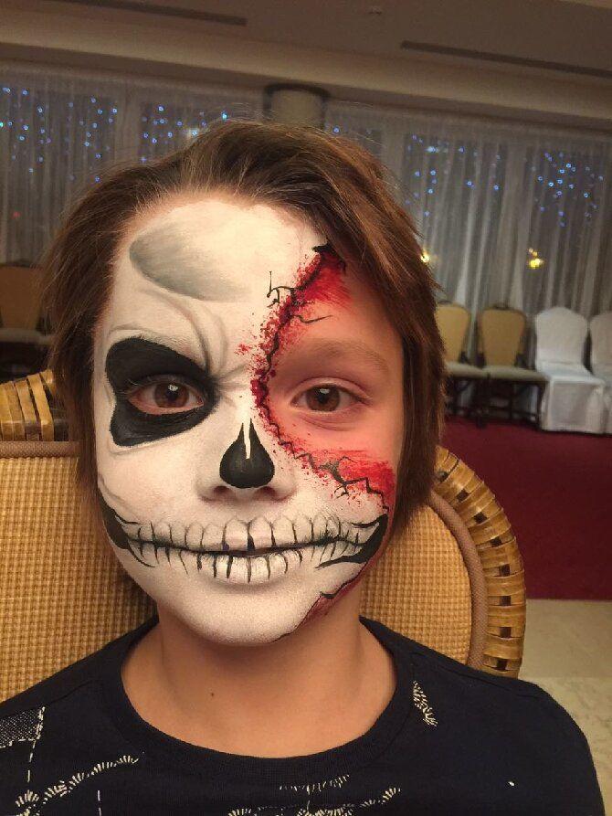 Страшно, весело и ярко:  20+ крутых идей макияжа для детей на Хэллоуин – фото, мастер-классы на видео 24
