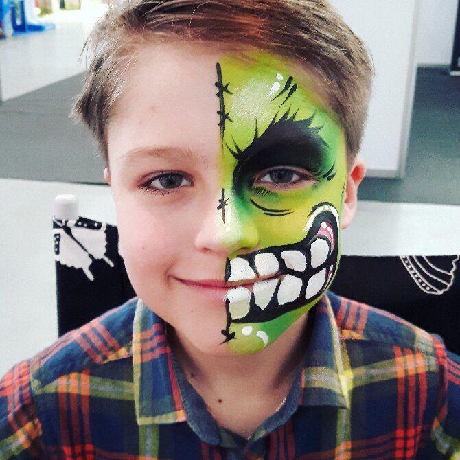 Страшно, весело и ярко:  20+ крутых идей макияжа для детей на Хэллоуин – фото, мастер-классы на видео 25