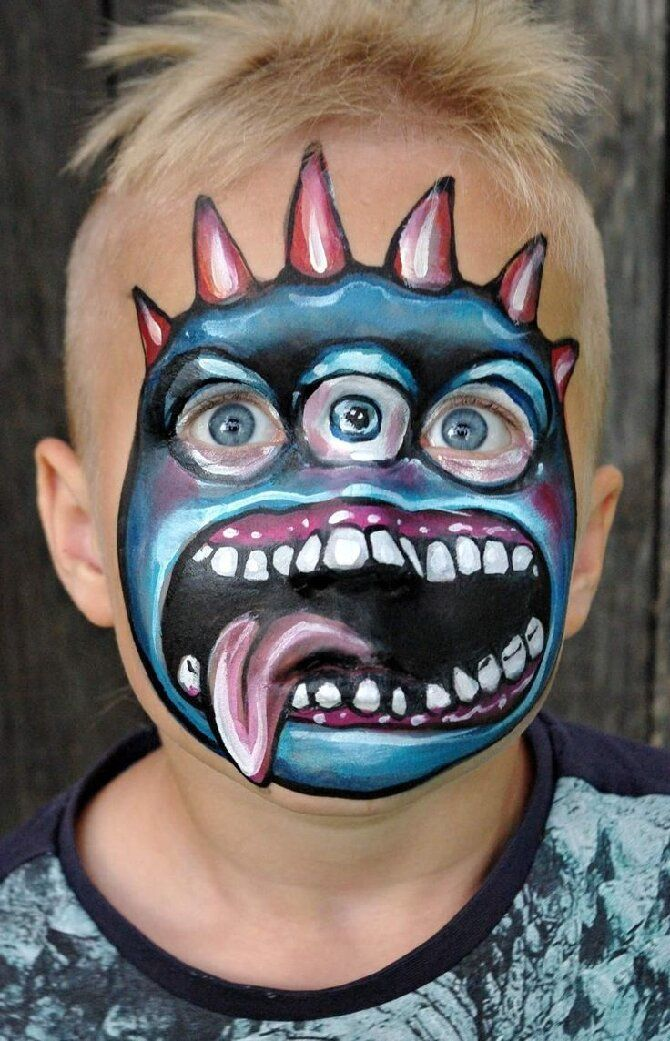 Страшно, весело и ярко:  20+ крутых идей макияжа для детей на Хэллоуин – фото, мастер-классы на видео 28