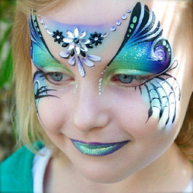 Страшно, весело и ярко: 20+ крутых идей макияжа для детей на Хэллоуин – фото, мастер-классы на видео 5