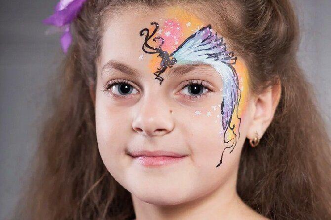 Страшно, весело и ярко: 20+ крутых идей макияжа для детей на Хэллоуин – фото, мастер-классы на видео 9