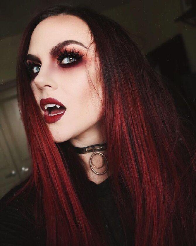 До последней капли крови: самый крутой макияж вампира на Хэллоуин, который можно легко сделать дома – секреты, идеи, фото 13