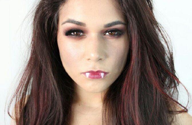 До последней капли крови: самый крутой макияж вампира на Хэллоуин, который можно легко сделать дома – секреты, идеи, фото 17