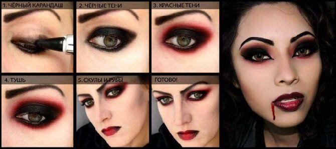 До последней капли крови: самый крутой макияж вампира на Хэллоуин, который можно легко сделать дома – секреты, идеи, фото 8
