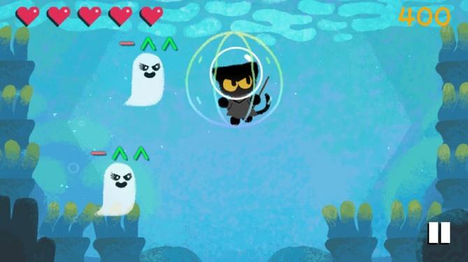 Поиграем? Google запустил игровой дудл с кошкой Момо в честь Хэллоуина 3