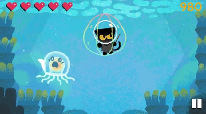 Поиграем? Google запустил игровой дудл с кошкой Момо в честь Хэллоуина 4