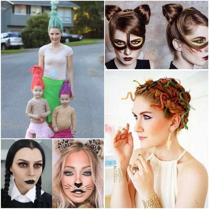 Прически на Хэллоуин 2020: креативные варианты для женщин, мужчин и детей 34