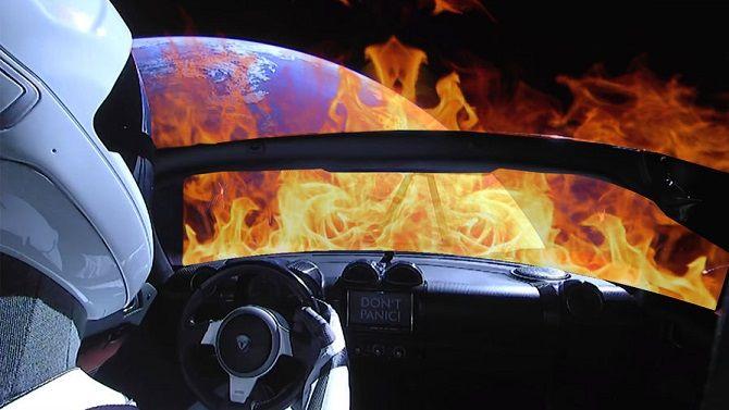 Tesla Roadster, запущена Ілоном Маском, пролетіла на мінімальній відстані від Марсу 1