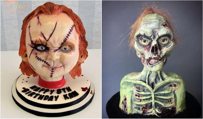 Торт на Хэллоуин: варианты украшения «ужасного» десерта 11