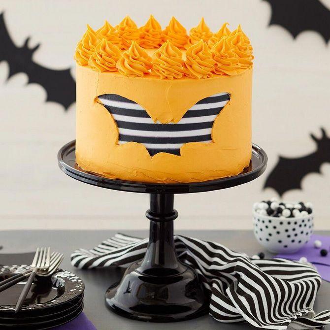 Торт на Хэллоуин: варианты украшения «ужасного» десерта 15