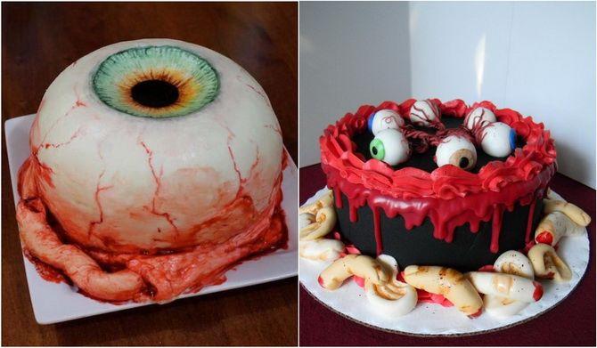 Торт на Хэллоуин: варианты украшения «ужасного» десерта 18