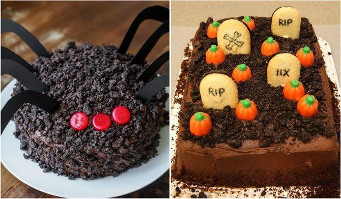 Торт на Хэллоуин: варианты украшения «ужасного» десерта 20