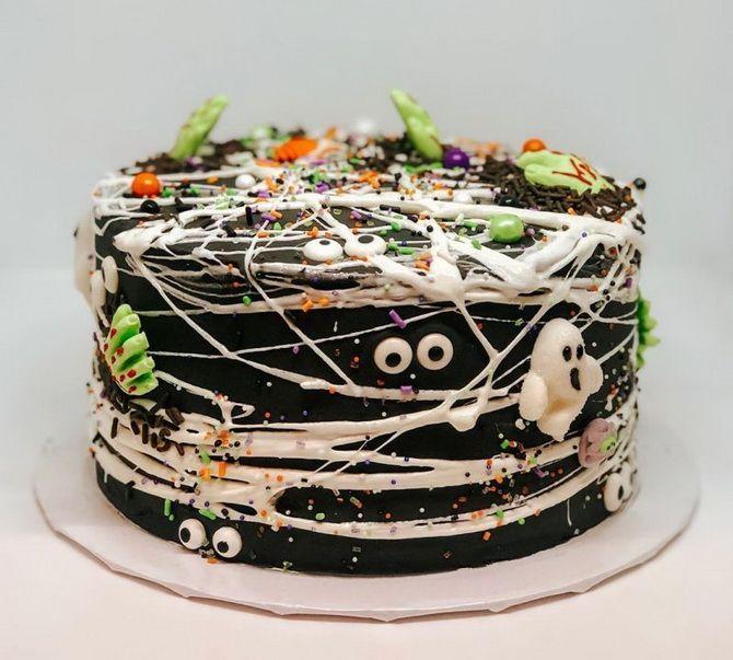 Торт на Хэллоуин: варианты украшения «ужасного» десерта 21