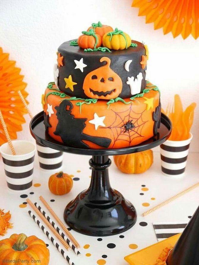 Торт на Хэллоуин: варианты украшения «ужасного» десерта 24
