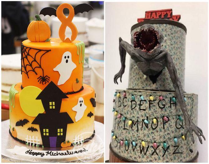Торт на Хэллоуин: варианты украшения «ужасного» десерта 26