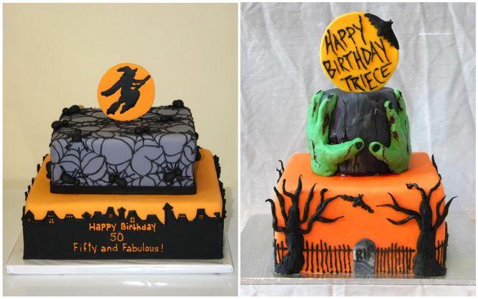 Торт на Хэллоуин: варианты украшения «ужасного» десерта 27