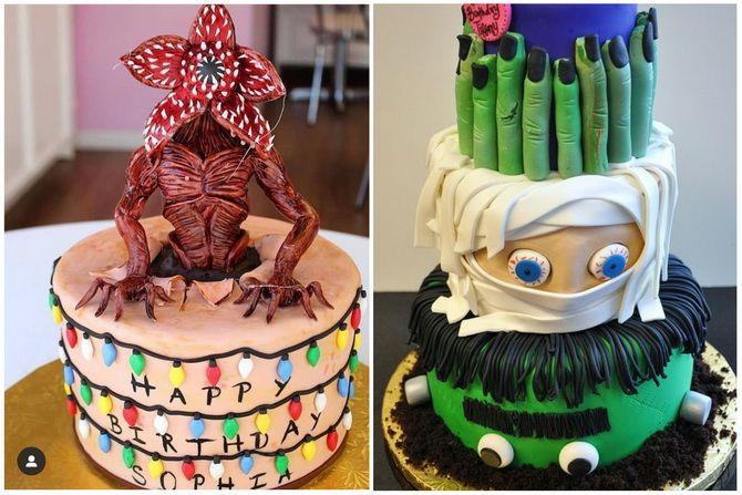 Торт на Хэллоуин: варианты украшения «ужасного» десерта 28