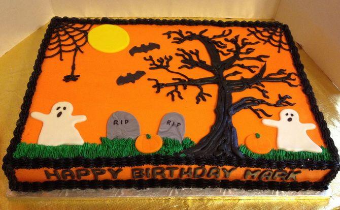 Торт на Хэллоуин: варианты украшения «ужасного» десерта 29