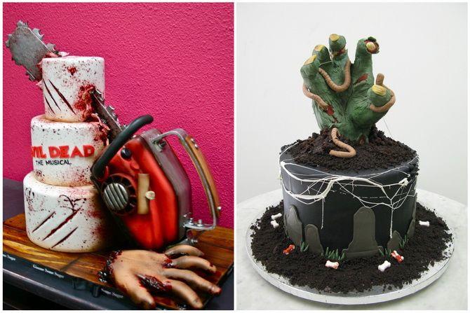 Торт на Хэллоуин: варианты украшения «ужасного» десерта 30