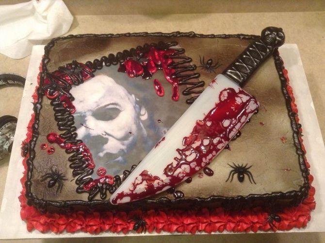 Торт на Хэллоуин: варианты украшения «ужасного» десерта 32