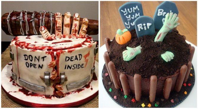Торт на Хэллоуин: варианты украшения «ужасного» десерта 34