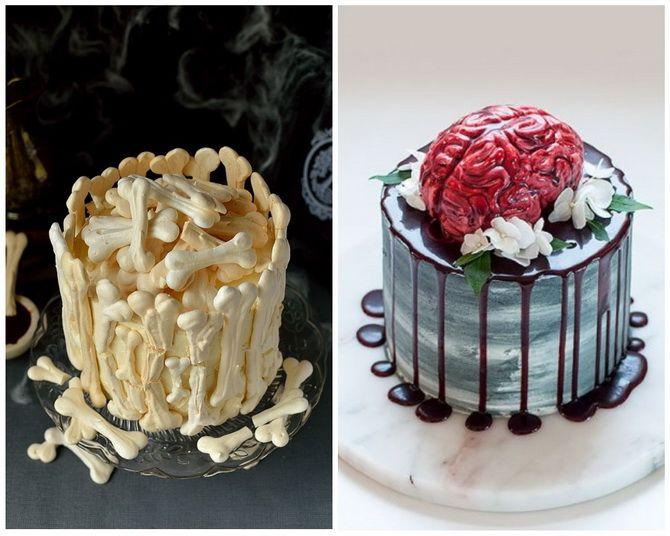 Торт на Хэллоуин: варианты украшения «ужасного» десерта 35