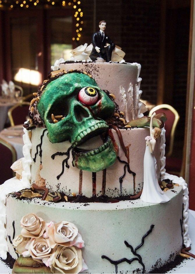 Торт на Хэллоуин: варианты украшения «ужасного» десерта 36