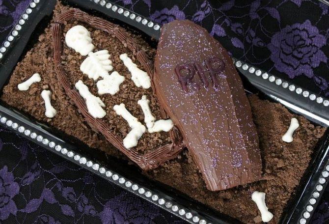 Торт на Хэллоуин: варианты украшения «ужасного» десерта 37