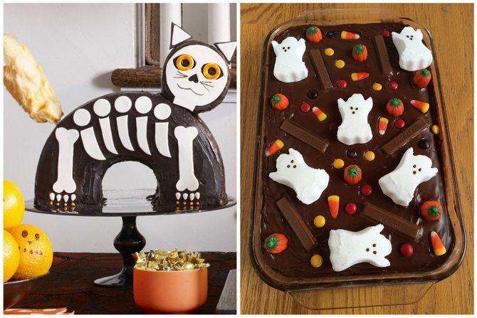 Торт на Хэллоуин: варианты украшения «ужасного» десерта 38