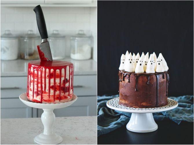 Торт на Хэллоуин: варианты украшения «ужасного» десерта 4