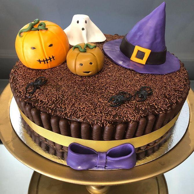 Торт на Хэллоуин: варианты украшения «ужасного» десерта 40