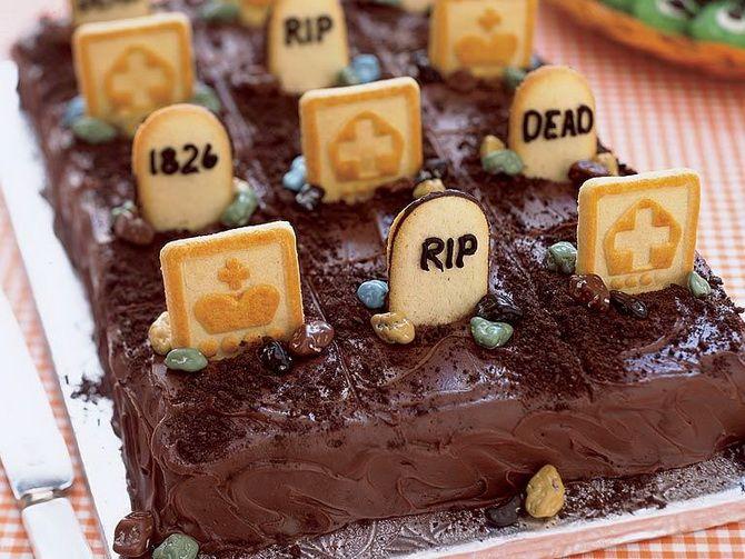 Торт на Хэллоуин: варианты украшения «ужасного» десерта 41
