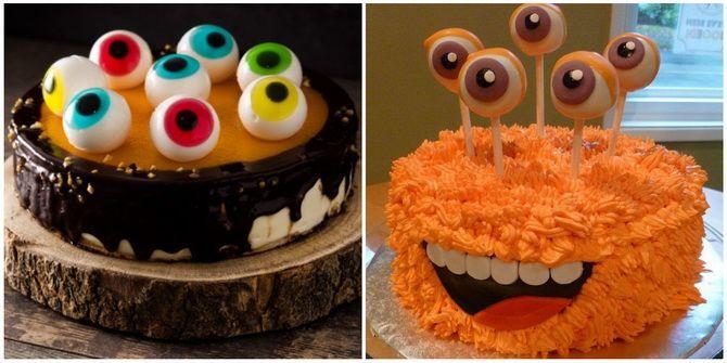 Торт на Хэллоуин: варианты украшения «ужасного» десерта 42