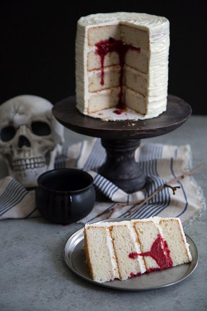 Торт на Хэллоуин: варианты украшения «ужасного» десерта 44