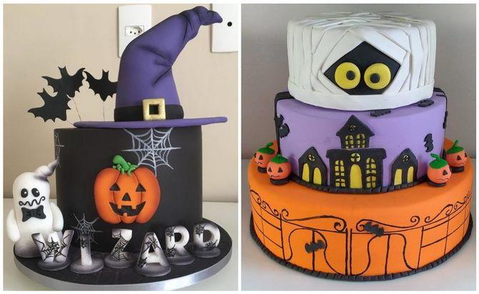 Торт на Хэллоуин: варианты украшения «ужасного» десерта 45