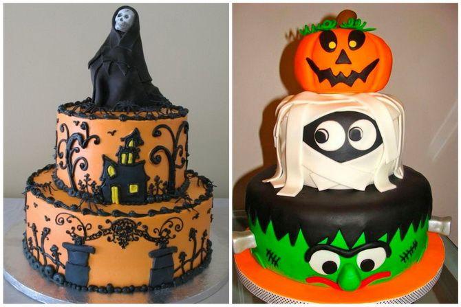 Торт на Хэллоуин: варианты украшения «ужасного» десерта 46