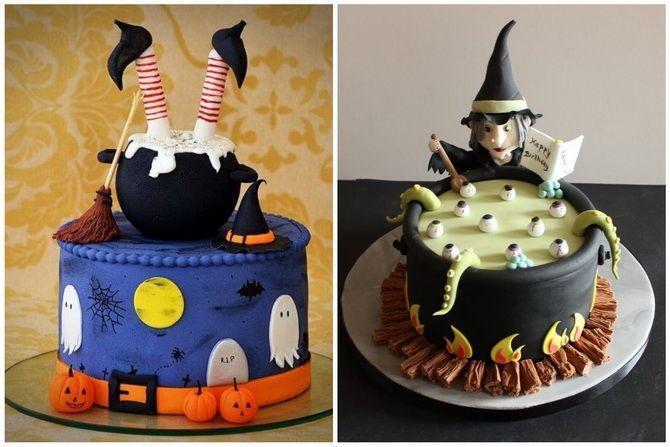 Торт на Хэллоуин: варианты украшения «ужасного» десерта 47